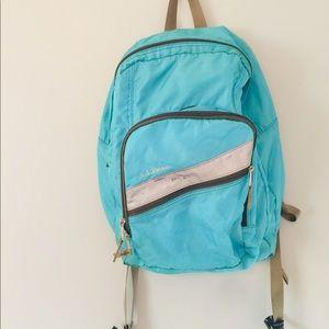 Blue L.L. Bean backpack